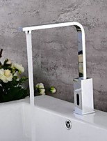 cheap -Bathroom Sink Faucet - Standard Electroplated / Painted Finishes Other Single Handle One HoleBath Taps