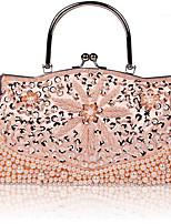 cheap -Women's Chain Nylon Evening Bag Floral Print Black / Purple / Blushing Pink