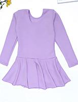 cheap -Kids' Dancewear Leotards Girls' Performance / Daily Wear POLY Split Joint Long Sleeve Dress