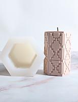 abordables -créatif bougie hexagonale moule en silicone moule bougie faisant l'outil bricolage bougie moule
