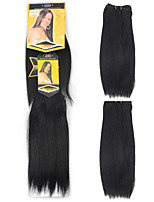 cheap -Straight Costume Accessories Hair Weft with Closure Natural Color Synthetic Hair Braids Braiding Hair One Pair × 2