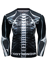 cheap -CODYLUNDIN Men's Compression Shirt Running Shirt Running Base Layer Winter Round Neck Running Active Training Jogging Breathable Soft Sweat-wicking Sportswear Skeleton Top Long Sleeve Activewear