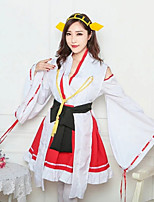 cheap -Sweet Lolita Wa Lolita Japanese Traditional Kimono Female Japanese Cosplay Costumes Black / Red Color Block Long Sleeve Above Knee / Dress