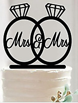 cheap -Cake Topper Acrylic 1 Piece Wedding