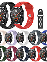 cheap -Sport Silicone Watch Band For Huawei Watch GT 2 46mm / 42mm / GT Active / Watch 2 Pro / Honor Magic / Watch 2 Replaceable Bracelet Wrist Strap Wristband