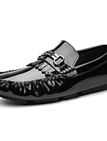 cheap -Men's Dress Shoes Cowhide Spring & Summer / Fall & Winter Casual / British Loafers & Slip-Ons Non-slipping Black / White