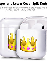 cheap -Case For AirPods Apple Transparent Earphone Cover Creative Pattern Cartoon picture