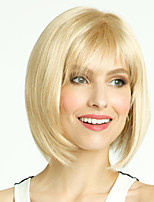 cheap -Synthetic Wig Straight Asymmetrical Wig Short Blonde Synthetic Hair 11 inch Women's Best Quality Blonde