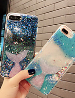 cheap -Case For Apple iPhone XS / iPhone XR / iPhone XS Max Shockproof / Flowing Liquid Back Cover Transparent TPU
