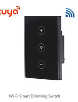 cheap -Tuya smart switch wifi US regulatory cross-border new product dimming smart switch supports Alexa