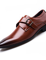 cheap -Men's Formal Shoes Faux Leather Spring & Summer / Fall & Winter Business / Casual Loafers & Slip-Ons Breathable Black / Brown / Wine