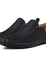 cheap -Men's Comfort Shoes PU Winter Loafers & Slip-Ons Booties / Ankle Boots Black / Light Brown / Khaki