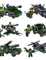 cheap -Building Blocks 52-63 pcs Military compatible Legoing Simulation Plane Climbing Car All Toy Gift