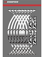 abordables -Autocollants de moto marron / blanc / rose rougissant autocollants communs / d'individualité texte / numéro autocollants de jante de roue de roue autocollants réfléchissants rayures pour Yamaha T-Max