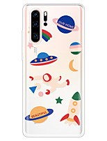 cheap -Case for Huawei scene map Huawei P30 P30 Lite P30 Pro Honor 20 Honor 20 Pro Cartoon love pattern high transparent thick TPU material all-inclusive mobile phone case