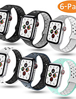 abordables -Bracelet de Montre  pour Apple Watch Series 4 / Apple Watch Series 3 / Apple Watch Series 2 Apple Bracelet Sport Silikon Sangle de Poignet