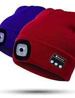 cheap -LED Beanie Hat with Light LED Emitters with Battery and USB Cable Portable Adjustable Durable Camping / Hiking / Caving Cycling / Bike Hunting USA White Light Source Color Black Orange Yellow