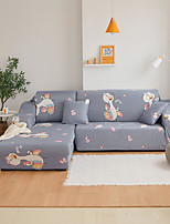 cheap -Cartoon Duck Print Dustproof All-powerful Slipcovers Stretch Sofa Cover Super Soft Fabric Couch Cover with One Free Pillow Case