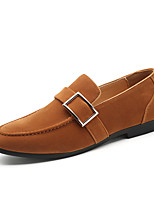 cheap -Men's Moccasin Leather / Suede Spring & Summer / Fall & Winter Business / Casual Loafers & Slip-Ons Breathable Black / Brown / Yellow