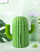 cheap -340ML USB Ultrasonic Air Humidifier Cactus Timing Aromatherapy Essential Oil Diffuser Aroma Mist Maker Fogger Mini with light