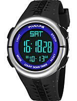 cheap -SYNOKE Digital Watch Digital Sporty Stylish Silicone 30 m Water Resistant / Waterproof Calendar / date / day LCD Digital Outdoor Fashion - Black Black / Blue Black / Silver