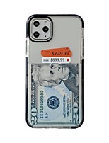cheap -USD Case For Apple iPhone 11 / iPhone 11 Pro / iPhone 11 Pro Max Ultra-thin / Pattern Back Cover Transparent TPU with Two Color Edges