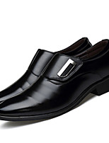 cheap -Men's Formal Shoes Faux Leather Spring & Summer / Fall & Winter Business / Casual Loafers & Slip-Ons Breathable Black / Brown
