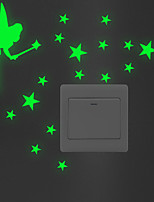 abordables -la fée l'étoile autocollants interrupteur d'éclairage - stickers muraux lumineux animaux salon / chambre / salle de bain