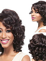 cheap -Synthetic Wig Curly Asymmetrical Wig Short Brown Synthetic Hair 5 inch Women's Best Quality Brown Ombre