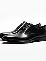 cheap -Men's Comfort Shoes Cowhide Fall & Winter Oxfords Black / Burgundy