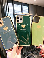 cheap -Case For Apple iPhone 11 / iPhone 11 Pro / iPhone 11 Pro Max Shockproof / Ultra-thin Back Cover Heart / Solid Colored Tempered Glass
