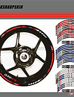 cheap -12 X Thick Edge Outer Rim Sticker Stripe Wheel Decals FIT BMW G310GS 17''