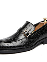 cheap -Men's Dress Shoes Synthetics Spring & Summer / Fall & Winter Classic / Casual Loafers & Slip-Ons Wear Proof Black / Brown