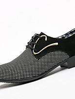 cheap -Men's Comfort Shoes Cowhide Winter Oxfords Booties / Ankle Boots Black / Black and White
