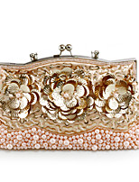 cheap -Women's Chain Synthetic Evening Bag Floral Print Black / Purple / Champagne