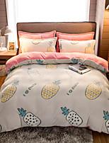 cheap -High Quality Snowflake Plush Comfortable Soft Warm Cartoon Printed Bed Set Luxury Soft Queen Duvet Cover Set