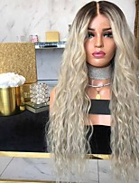 cheap -Synthetic Wig Curly Asymmetrical Wig Long Ombre Blonde Synthetic Hair 27 inch Women's Color Gradient Best Quality Blonde