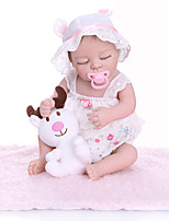 cheap -NPKCOLLECTION 20 inch Reborn Doll Baby Baby Girl lifelike Cute New Design Full Body Silicone Silicone Silica Gel with Clothes and Accessories for Girls' Birthday and Festival Gifts
