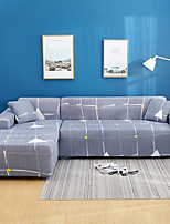 cheap -Grid Print Dustproof All-powerful Slipcovers Stretch L Shape Sofa Cover Super Soft Fabric Couch Cover with One Free Pillow Case
