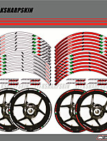 cheap -Motorcycle Wheel Rim Decals Wheel Reflective Stickers Stripes For Aprilia DORSODURO 1200
