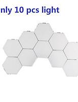 cheap -10 sets of modular touch sensitive lighting hexagonal lamp creative magnetic night lamp wall decoration lampara