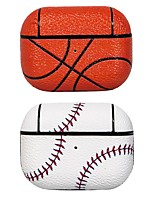 cheap -Case For AirPods Shockproof / Dustproof / Cool / Basketball / Baseball Headphone Case Hard