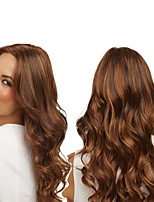 cheap -Synthetic Wig Curly Body Wave Asymmetrical Wig Long Brown Synthetic Hair 27 inch Women's Best Quality Brown