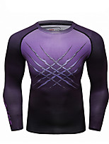 cheap -CODYLUNDIN Men's Compression Shirt Running Shirt Running Base Layer Winter Round Neck Running Active Training Jogging Breathable Soft Sweat-wicking Sportswear Skull Top Long Sleeve Activewear Stretchy