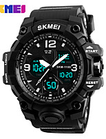 cheap -SKMEI Smartwatch Digital Modern Style Sporty Silicone 30 m Water Resistant / Waterproof Calendar / date / day Casual Watch Analog - Digital Outdoor Fashion - Black Black / Blue black / gold