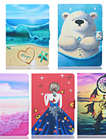 cheap -Case For Apple iPad Mini 3/2/1 / iPad Mini 4 / iPad Mini 5 Card Holder / Shockproof Full Body Cases Scenery / Cartoon TPU