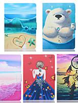 cheap -Case For Apple iPad Mini 3/2/1 / iPad Mini 4 / iPad Mini 5 Card Holder / Shockproof Full Body Cases Scenery / Cartoon TPU
