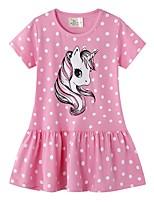 cheap -Kids Girls' Polka Dot Dress Blushing Pink