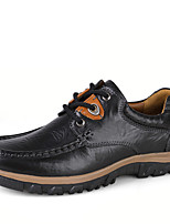 cheap -Men's Leather Shoes Nappa Leather Spring / Fall & Winter Classic / Vintage Oxfords Hiking Shoes Non-slipping Black / Brown