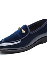 cheap -Men's Printed Oxfords Synthetics Spring / Fall Casual / British Loafers & Slip-Ons Non-slipping Black / Wine / Blue / Party & Evening